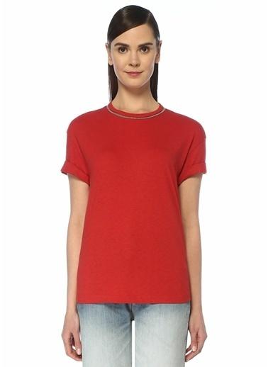 Brunello Cucinelli Tişört Kırmızı